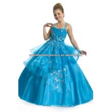 El vestido de bola azul largo caliente del cabrito del desfile de la nueva llegada 2013 de las muchachas viste CWFaf5280