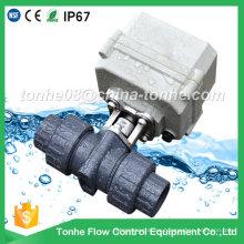"""Dn20 3/4 """"2 vías 12V 24V Válvula de bola eléctrica de PVC motorizado eléctrico"""