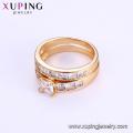 15603 Xuping jóias de moda 18k cor de ouro casal anel de venda quente