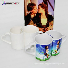 Sunmeta factory supply 11oz couple mugs for sublimation,sublimation mugs