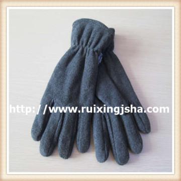 Men's grey fleece gloves