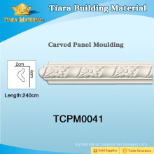 Modern PU ceiling wall moulding with delicate styles