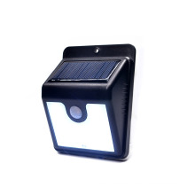 Lámpara de sensor de movimiento de LED de jardín impermeable al aire libre solar