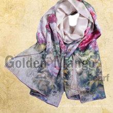 100% шелк моды цифровой печати шелковые шарфы
