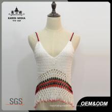 Femmes Boho V-Neck Sexy Slip Crochet Tops