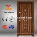 Wood face steel frame exterior doors