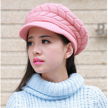 Lady Fashion Wool Acrylic Knitted Winter Warm Dress Cap (YKY3130)