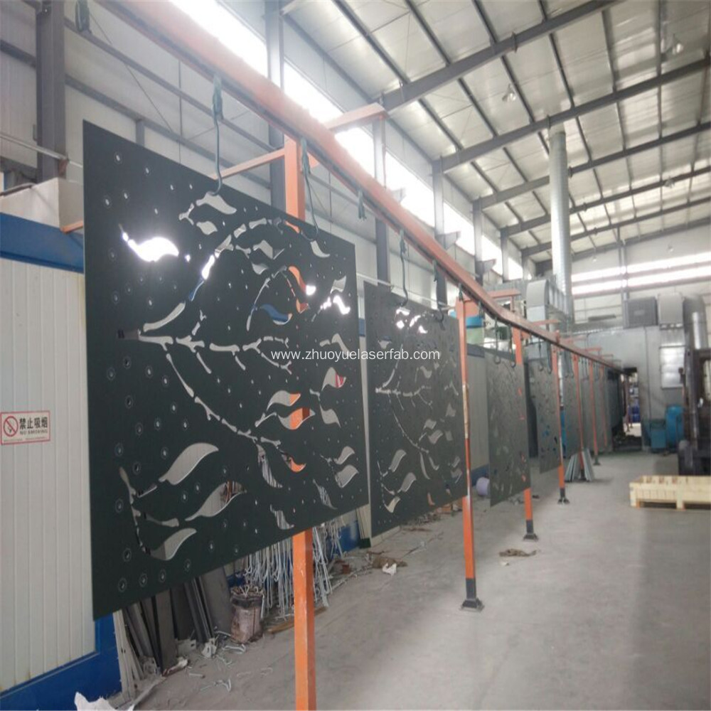 Powder Coated Metal Decorative Laser Cut Screen