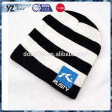 Diseñe su propio sombrero del invierno del estilo sombrero hecho punto por encargo para la venta al por mayor