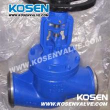 Válvula de globo selada de fole padrão DIN de aço fundido