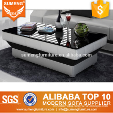 SUMENG Guangdong manufacturer double layer glass sofa coffee table CT33