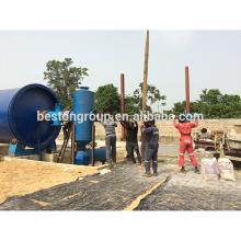 Eueopean satanard 100% Vendeurs de l'environnement et de la sécurité de l'usine de pétrole de pyrolyse de pneu de rebut