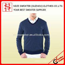 Man vertical stripe ssweater