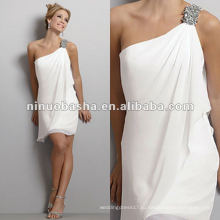 Шифон бисером одно плечо свадебное платье