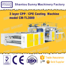 Triple-screw 3 Layers CPP Casting Film Machine model CM-TL3000
