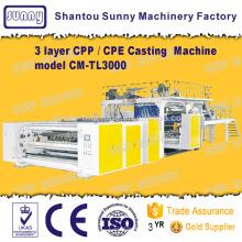 Triplo-parafuso 3 camadas CPP Casting filme máquina modelo CM-TL3000