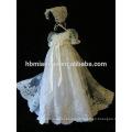 La última línea vestido formal del bautizo del bebé del desgaste formal del partido de la manga corta para la princesa Girl Gown