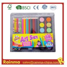 Artigos de papelaria da escola para o conjunto de pintura colorida