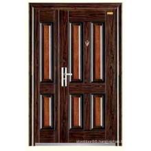 One and Half Door Leaf Steel Stainless Door KKD-322B Mother Son Steel Security Door