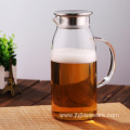 Hot Glass Water Pitcher Tea/Coffee Cafe Beverage Pitcher