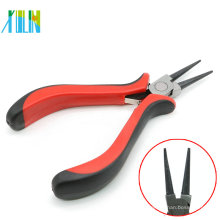 Mini alicates de punta plana con manija roja para la fabricación de joyería del collar de los colgantes, ZYT0004