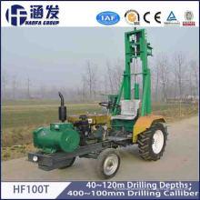 100m Tractor montado de perforación de pozos de agua máquina de perforación para la venta