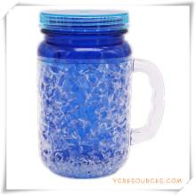 Tasse givrée à double paroi Tasse à bière glacée glacée pour cadeaux promotionnels (HA09072-1)