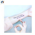 Single English word small size tattoo finger sticker with black color,temporary sticker for hand