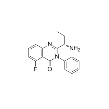 CAS 870281-86-0, CAL 101 (N-1), (S) -2- (1-amminopropil) -5-fluoro-3-phenylquinazolin-4 (3H) -one