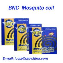 BNC 140mm Sandalwood Micro-Fumaça Mosquito Bobina Preto