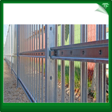 Green Ornamental steel fencing panels