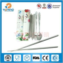 bulk buy from china potable stainless steel travel dinner set