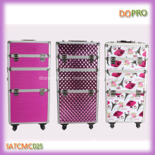 3 Patterns Available Professional Travel Trolley Makeup Artist Case (SATCMC025)
