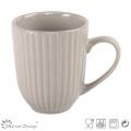 12oz Embossed Ceramic Coffee Mug