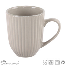 12oz Embossed Ceramic Coffee Mug