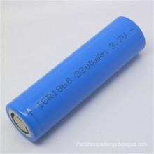 Lithium 18650 3.7 v 2200mAh rechargeable batteries