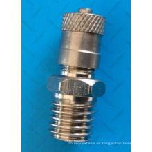 "Alta calidad 5/16""-24 Unf válvula Schrader de aire tanque válvula de cobre amarillo"