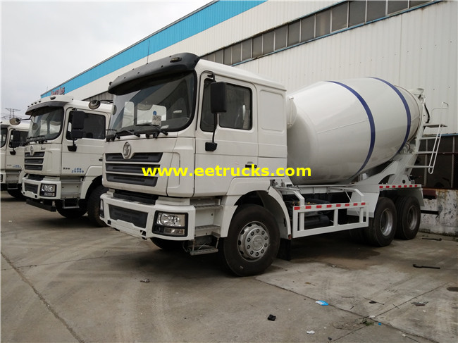 SHACMAN 10 Wheel 6000L Cement Truck Mixers