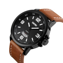 Skmei 9115 japan movt quartz watch price men leather brand your own watches
