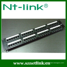 Montaje en bastidor 19 pulgadas krone IDC cat5e 48 panel de conexión de puerto