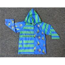 Cartoon impresso PVC jaqueta de chuva para os meninos da escola