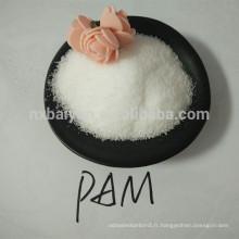 huile de pam anionique de polyacrylamide