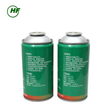 China car use 300g can packing HFC-R134a use for car Unrefillable Cylinder 800g Port for Indonesia