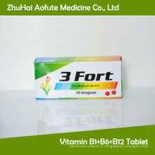 Vitamine B1 + B6 + B12 Tablette