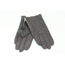 wholesale women goatskin gloves hand back hollow out star design and fashion zipper hang fringe