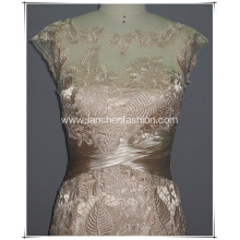 Cap Prom Sleeve Lace Dress