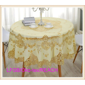 PVC All-in-One Lace Tablecloth 72′′ 182cm Round
