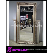 European Style Eco-friendly Solid Wood Handmade Decorative Large Mirror