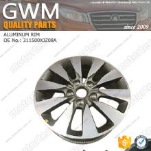 Rueda de aluminio de piezas de automóviles grandes piezas de repuesto de aluminio 3113200XJZ08A