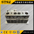 Komatsu genuine parts  PC200-7 cylinder block 6731-21-1170